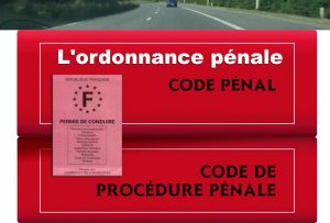 permis de conduire et ordonnance pénale
